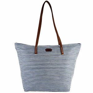 Strandtasche-Badetasche-XXL-Shopper-Damentasche-Schultertasche-blau-weiss-marine
