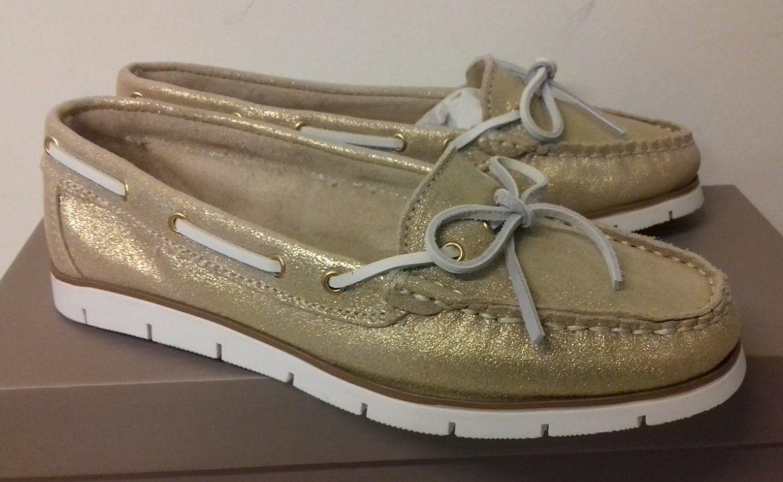 shoes - San Marina - women moccasins lauralie - gold - size 36