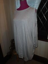 Stunning All Saints Sago Jumper Dress Light Grey  Size 10 Excellent Condition