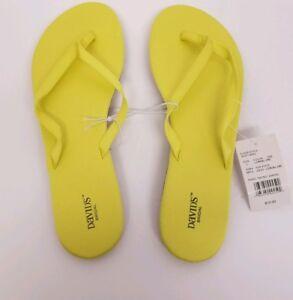 171a0a5266f3ae David s Bridal Thong Flip Flop Sandal Size L 9 10 ~Zoey Lemon lime ...