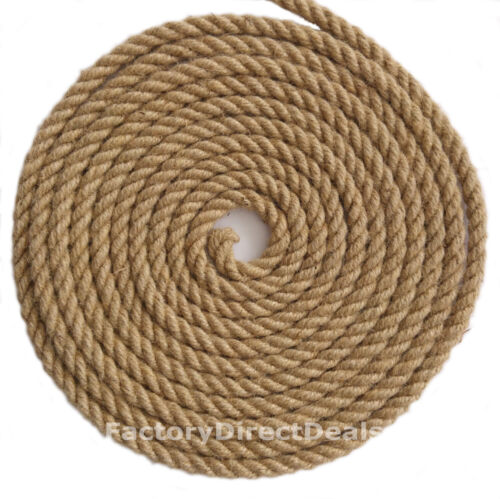 18 mm x 5 m 100/% Naturel Jute Corde torsadée corde de jardin//terrasse//Hobby Art Craft À faire soi-même