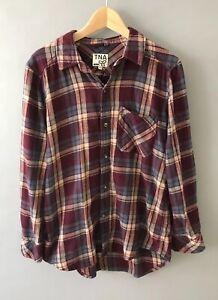 burgundy flannel shirt womens