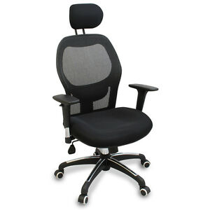 new mesh ergonomic office chair w/ adjustable headrest, arms and
