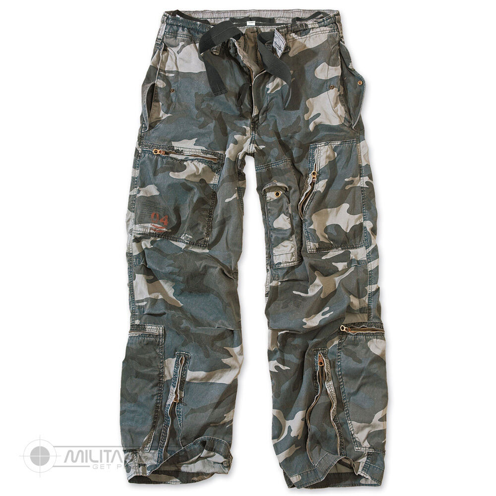 Surplus Surplus Surplus Fanteria Pantaloni Militari Grezzo Vintage Stile Midnight Camo db1e48