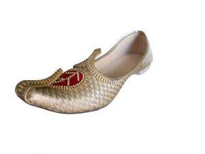 Jutti Wedding Men Shoes Indian Handmade Flip-Flops Khussa Loafers Flat