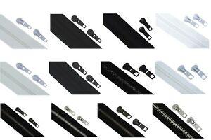 Endlos-Reissverschluesse-Reissverschluss-Kunststoff-Metall-5-Meter-10-Zipper