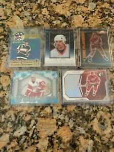 Steve-Yzerman-Five-Card-Lot-Red-Wings-Great-See-Pics-and-Info-Below