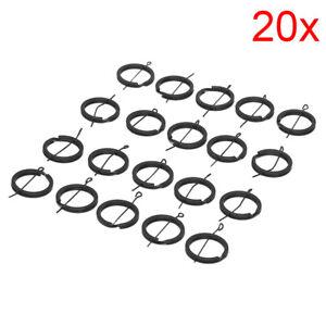 20X-Diy-25Mm-Black-Keyring-Keychain-Split-Ring-Chain-Key-Rings-Jewel-ti