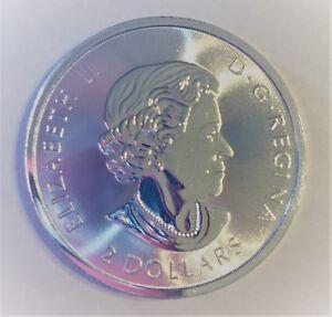 1X-Canada-2018-BU-2-Dollar-POLAR-BEAR-1-2-Oz-9999-Fine-Silver-NEW-Coin