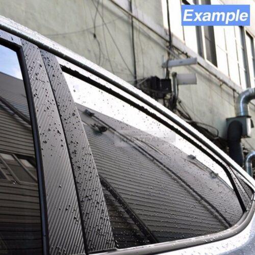 Carbon Black B C Pillar Post Decal Sticker Cover 6P For CHEVROLET 2006-13 Impala