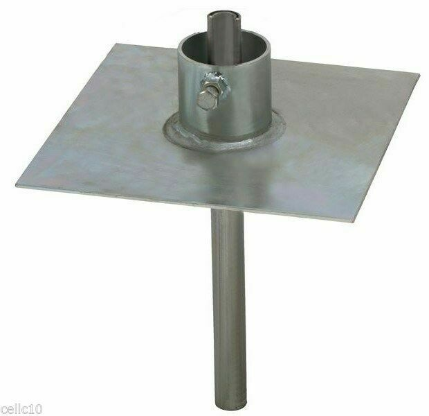 Ez32a Heavy Duty Ground Mount Plate For Telescopic Push Up Antenna Masts For Sale Online Ebay