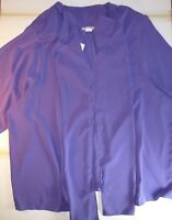 Aries Woman Purple 2 Piece Jacket & Sleeveless Top Set Size 22 J266 A1