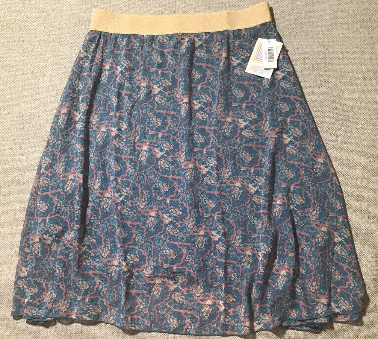 NEW LuLaRoe Lola Women's Print Flare Skirt Size XL  F2