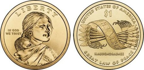 2010 P/&D Native American Indian 1 Dollar Mint Coin Sacagawea Great Law Of Peace