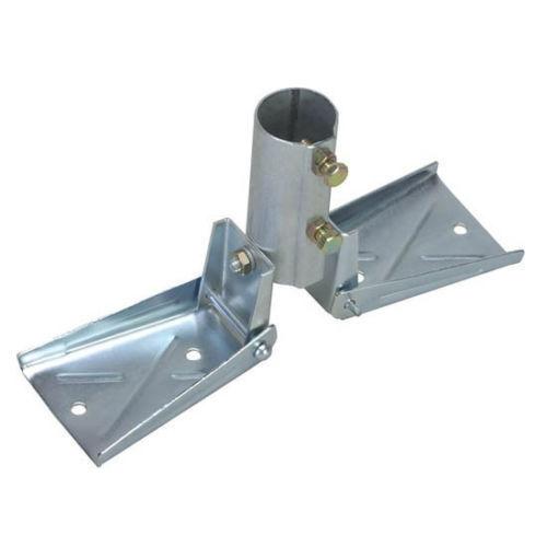 Telescoping Antenna Mast Pole Roof Mount Heavy Duty Swivel 1-3//8 Easy Up EZ 17