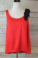 Apostrophe Red Scoop Neck 100% Polyester Tank Top (s,l)