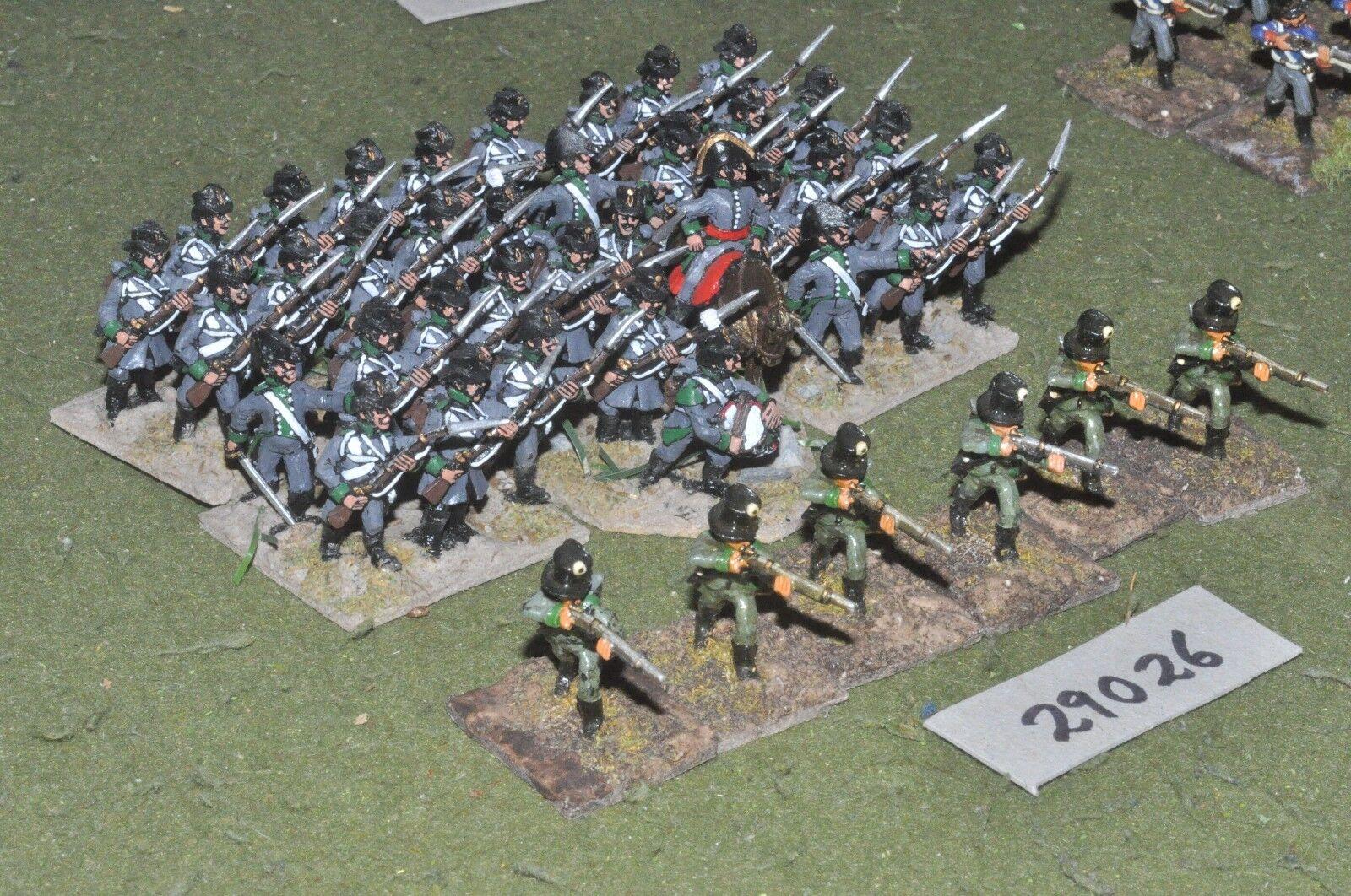 ventas de salida 25mm napoleónicas/Austria-JAGERS 42 figuras-INF (29026) (29026) (29026)  perfecto