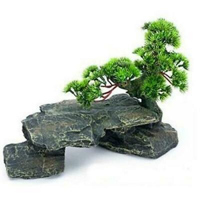 Aquarium Decoration Large Bonsai Tree On Rocks Fish Tank Ebay
