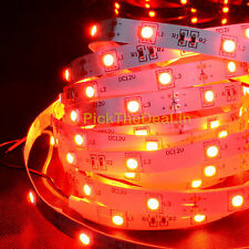 Red 5 meter LED smd STRIP light 5050 60 led/meter+12V DC Driver 1A free