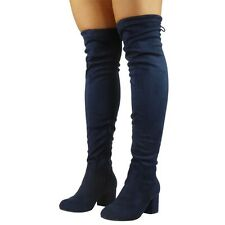 56f131c0dcf5 item 8 Womens Thigh High Boots Ladies Over The Knee Lace Up Long Low Heel  Shoes Size -Womens Thigh High Boots Ladies Over The Knee Lace Up Long Low  Heel ...