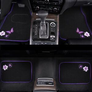 Car-Floor-Mats-Universal-Purple-Black-Butterfly-Anti-slip-For-Honda-Toyota-Ford