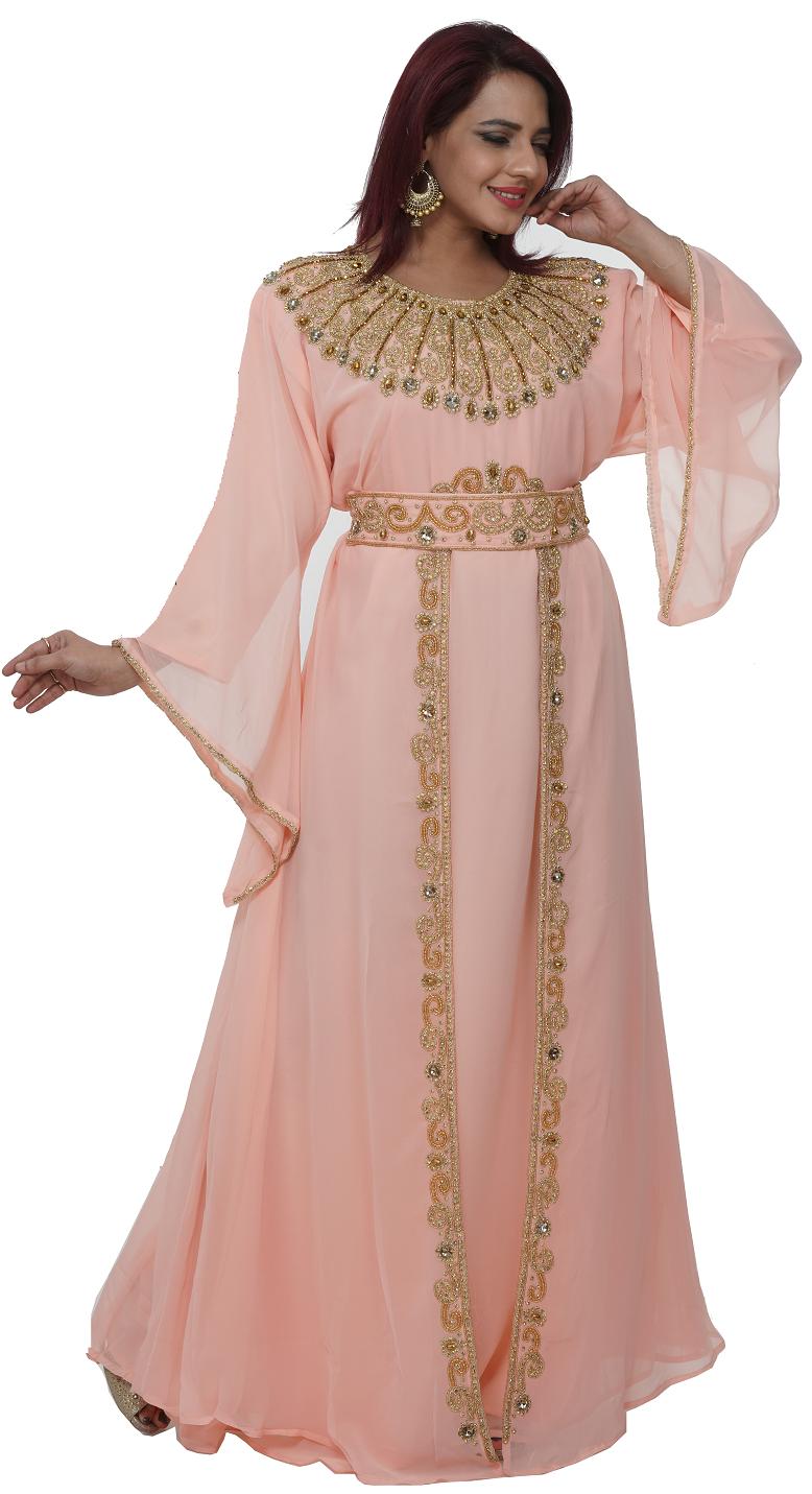 Elegant Ethnic Dubai Moroccan Kaftan Evening Tea Party Dress Moroccan Maxi 8360