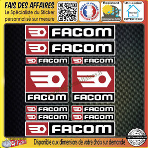 lot-11-Stickers-autocollant-Facom-bricolage-adhesif-planche-sponsor-tuning-outil