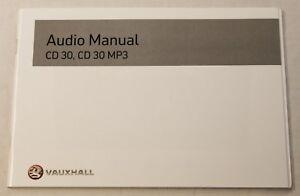 genuine vauxhall corsa astra vectra zafira audio stereo manual cd30 rh ebay ie vauxhall cd30 mp3 vauxhall cd30 mp3 cd error