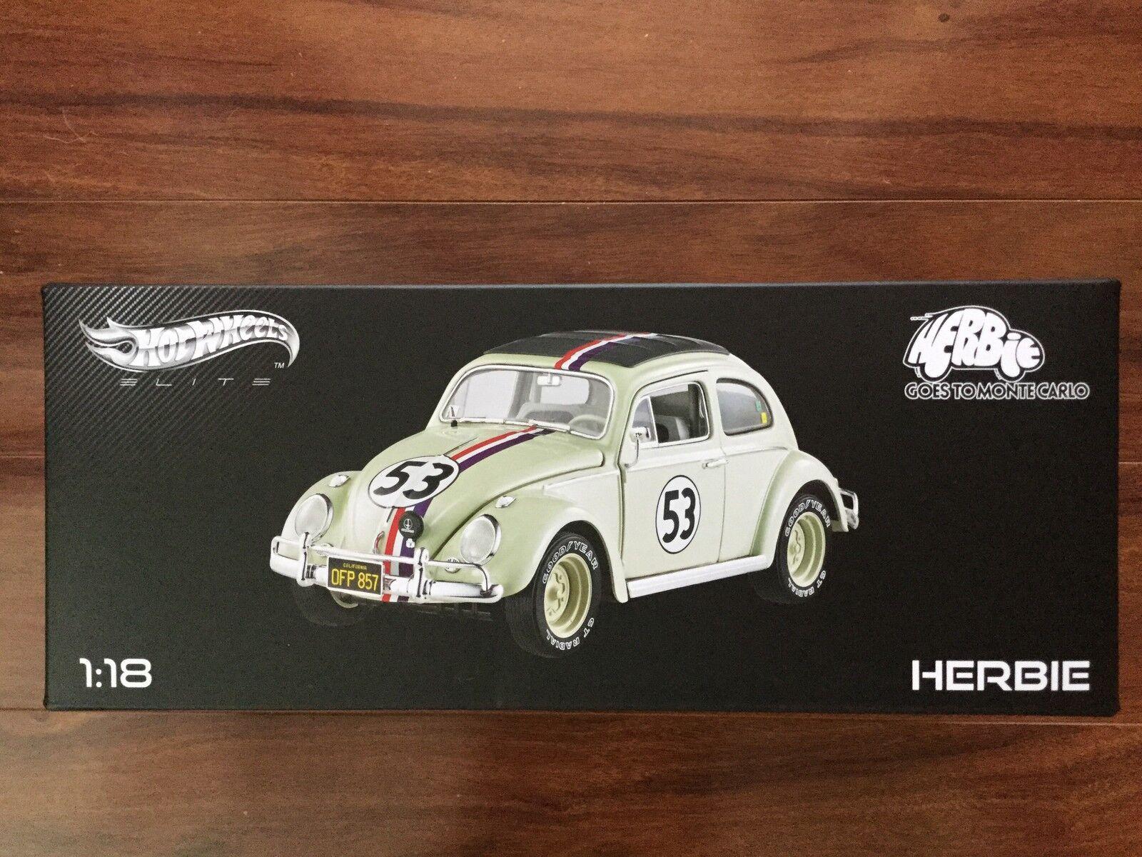 Hot Wheels Elite 1 18 Herbie va a Monte Carlo Nº de artículo BLY22 F S