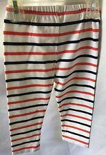 BABYGAP GIRLS RED WHITE BLUE STRIPE LEGGINGS SIZE 18-24Ms NEW