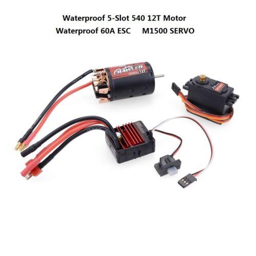 Waterproof Power Kit 540 Motor ESC Servo For 1//10 SCX10 D90 TRX-4 Climbing Car