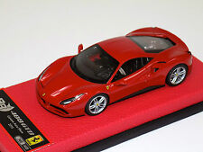 1/43 BBR Ferrari 488 GTB Met. Rosso Corsa 2015 on leather base