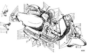 Horn cast cover grille for Lambretta LI