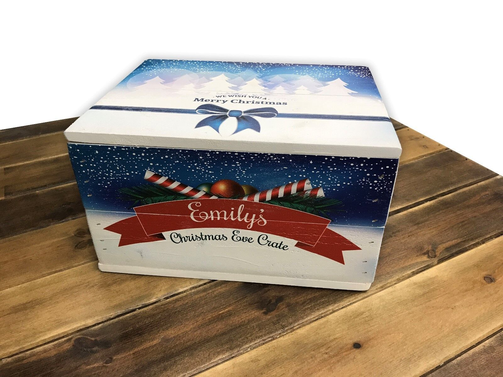 Christmas Box with lid - Personalised - Premium Weiß