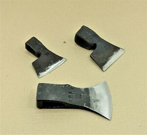 LOT-OF-3-AXE-GOOSEWING-BEARDED-BROAD-GERMAN-HATCHET-AXE-HEAD-FORGED-RARE