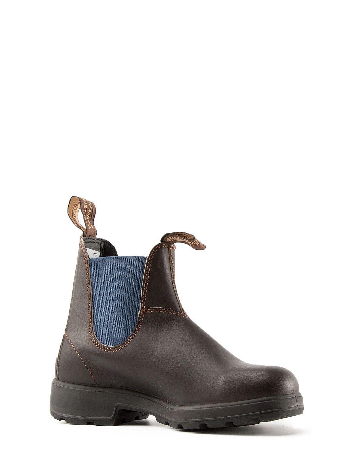 blueNDSTONE AUSTRALIA shoes STIVALETTI  PELLE men brown blue