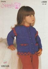 5640b03be01f Knitting Pattern Sirdar 2273 Click Chunky Child s Cardigan for sale ...