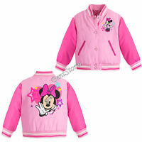 Princess Minnie Mouse Pink School Varsity Jacket For Girls Disney Store 9/10