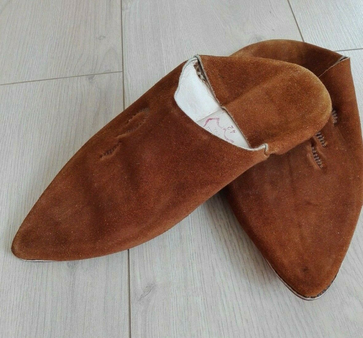 Babouche Suede Leather Traditional Slipper Handmade Mgoldccan KHANJAR DAGGER 41