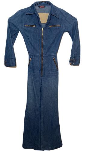 """Women's Vintage 1970's """"Male"""" Label Denim Jumpsuit"""