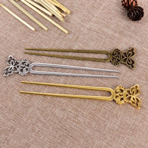 U Form Retro Metall Haar Gabel Haar Pin Haar Pick Platz Haarspange Haarschmuck4H