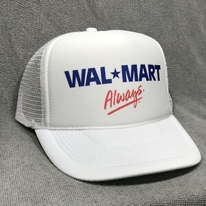 ca8db9c9e88 Image is loading Wal-Mart-Always-Employee-Trucker-Hat-Vintage-Retro-