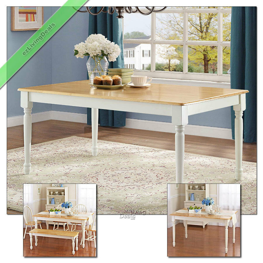 Farmhouse Dining Table Kitchen and Dining Room Tables Wood ...