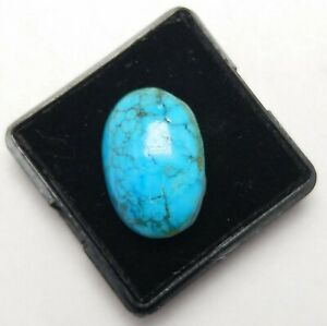 Natural-Cabochon-Kingman-turquoise-Arizona-19-00-Ct-Top-Loose-Gemstone-Ring-Size