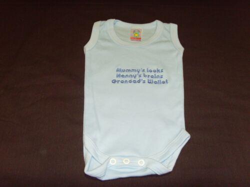 Funny brodé personnalisé gilet baby shower cadeau mummys nannys ébouillantent mur