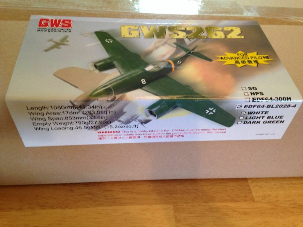 nuovo R C GWS 262 ME 262  Brushless Ducted Fan Jet Warbird ARF Kit  distribuzione globale