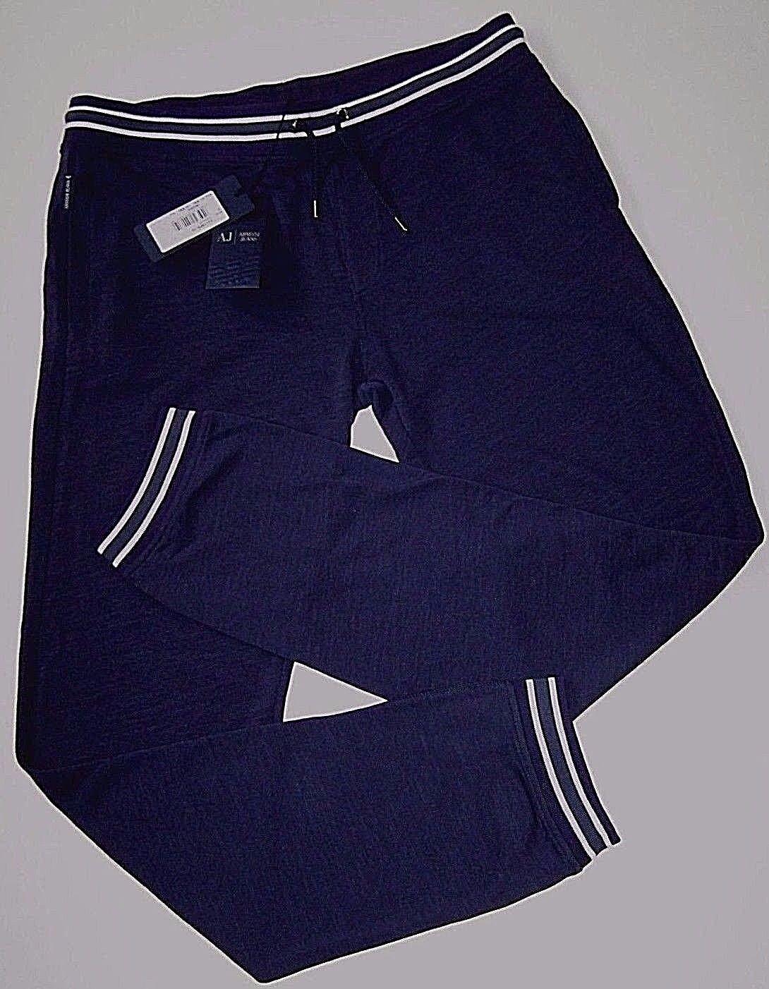 AJ ARMANI JEANS AUTHENTIC JOGGER NAVY blueE COTTON PANTS size XXL NEW w TAGS