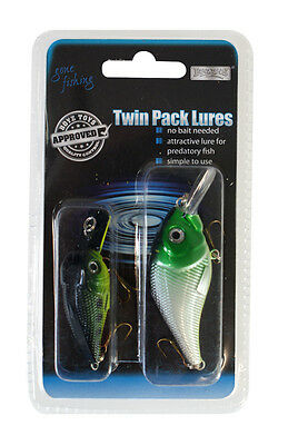 Boyztoys Fishing Lures (Twin Pack) Simple to Use, No Bait Needed