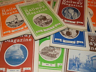 Railway Magazine, 1940 to 1945, various issues