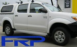 TOYOTA-HILUX-DUAL-CAB-4WD-WITH-BULLBAR-2005-6-2011-WHITE-SET-OF-4-FLARES